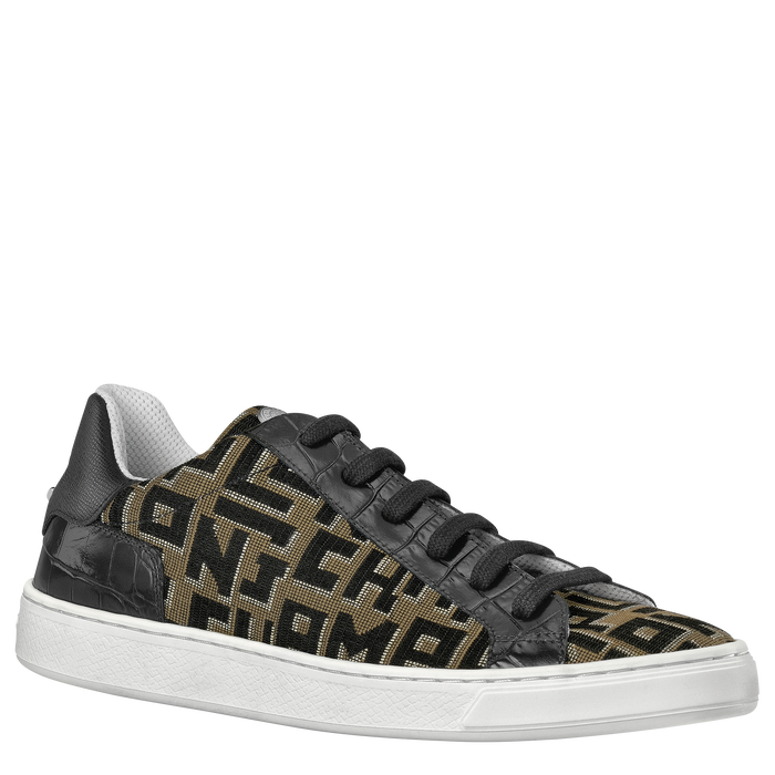 Fall-Winter 2021 Collection Sneakers, Taupe/Black