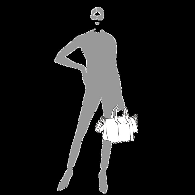 Le Pliage Cuir Top handle bag S, Navy