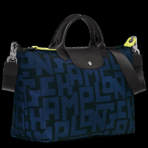 Top handle bag L, Black/Navy - View 2 of 4 -