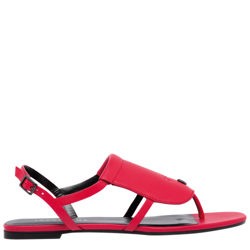 Flat sandals, Red - View 4 of  6 -