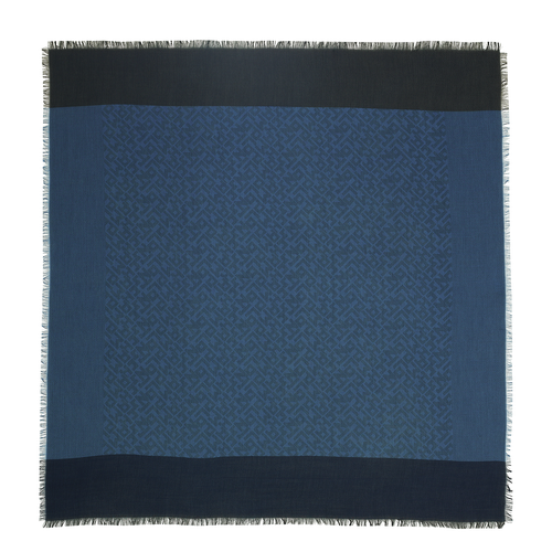 View 1 of Shawl, 087 Denim, hi-res