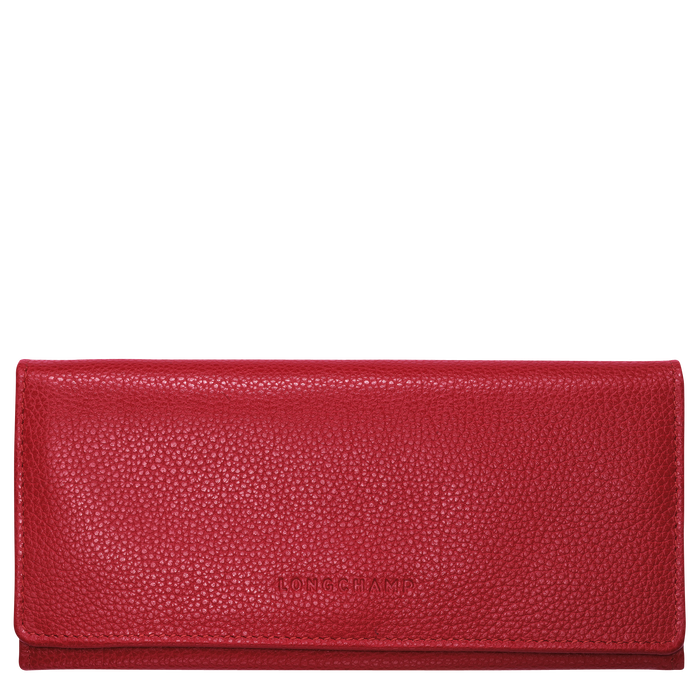 Long continental wallet, Red, hi-res - View 1 of 2