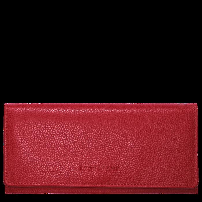 Lange Geldbörse mit Überschlag, Rot, hi-res - View 1 of 2