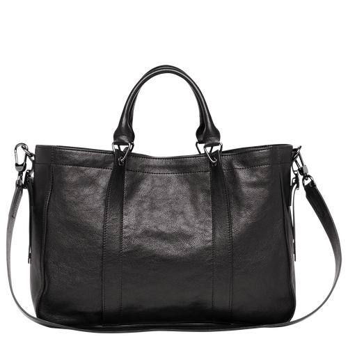 View 3 of Tote bag M, Black, hi-res