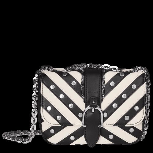 View 1 of Hobo bag XS, 067 Black/White, hi-res
