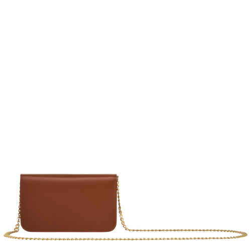 View 3 of Wallet on chain, Cognac, hi-res