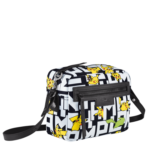 Crossbody bag, Black/White - View 2 of  3 -