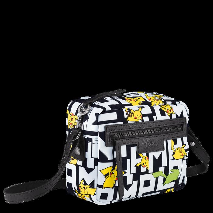 Crossbody bag, Black/White - View 2 of  3 - zoom in