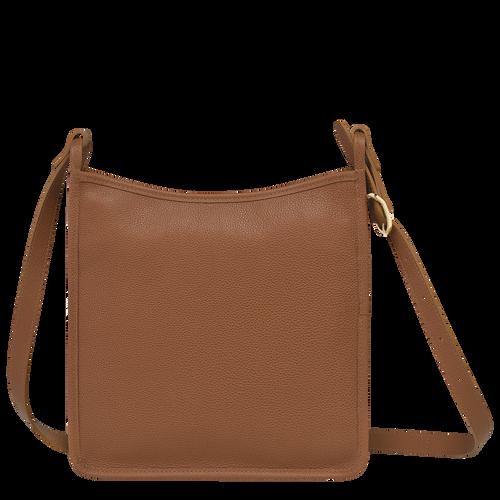 Le Foulonné 系列 拉鏈斜背包大型, 淡紅褐色