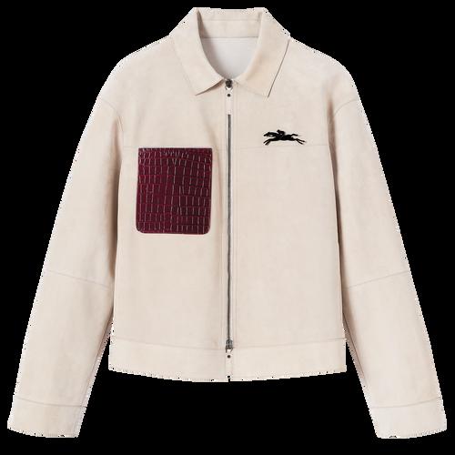 Spring-Summer 2021 Collection Jacket, Chalk/Burgundy