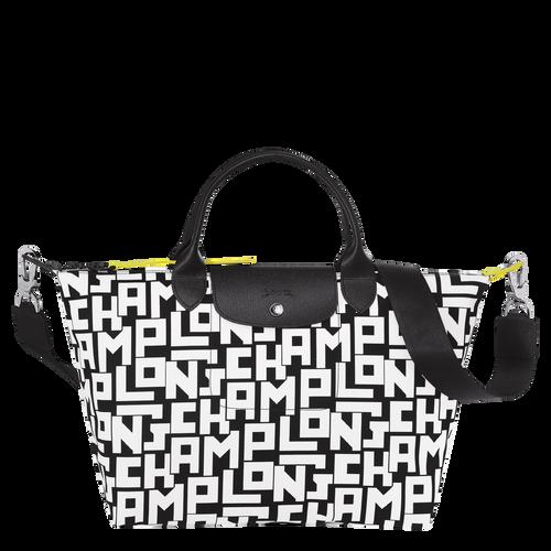 Top handle bag M Le Pliage Collection Black/White (L1515412067) | Longchamp  US
