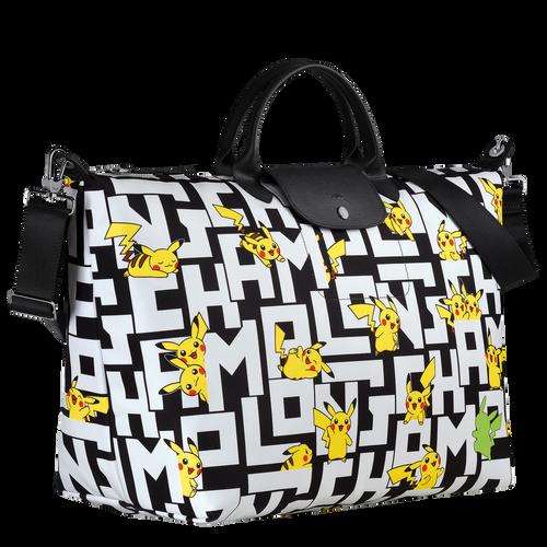 Travel bag L, Black/White - View 2 of  3 -