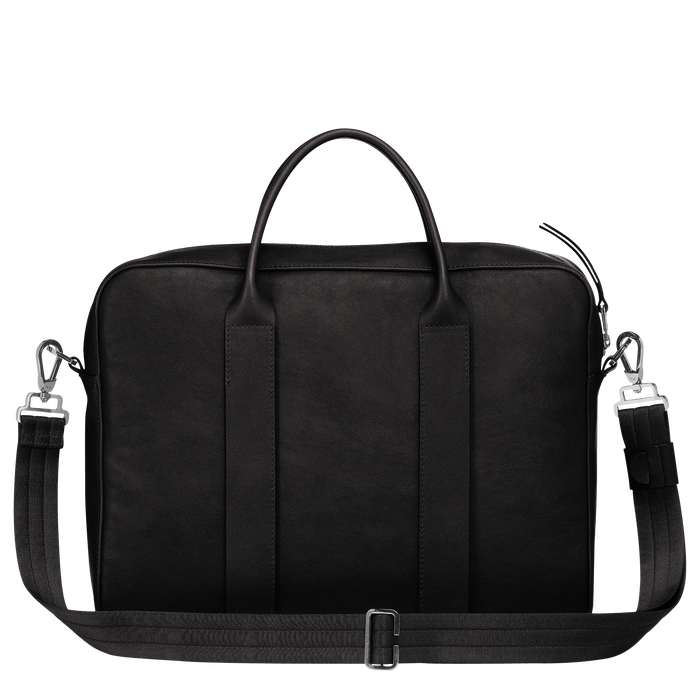 Longchamp 3D Briefcase M, Black