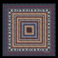 Pañuelo de seda, 127 Azul, hi-res
