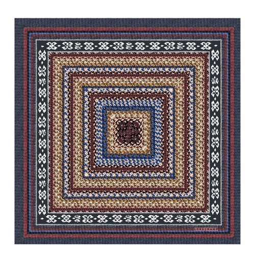 View 1 of Zijden sjaal, 127 Blauw, hi-res