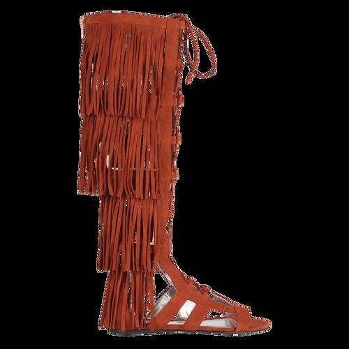 Platte sandalen, 504 Cognac, hi-res