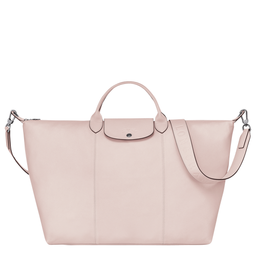 Travel bag L Le Pliage Cuir Pale pink (L1624757P53) | Longchamp US