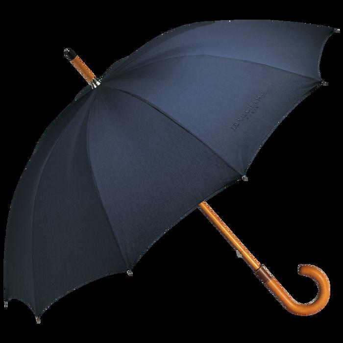 Paraplu met wandelstok, Marineblauw - Weergave 1 van  1 - Meer inzoomen.
