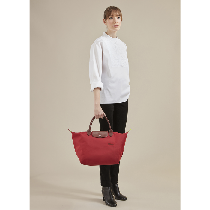 Le Pliage Green Handtasche M, Rot