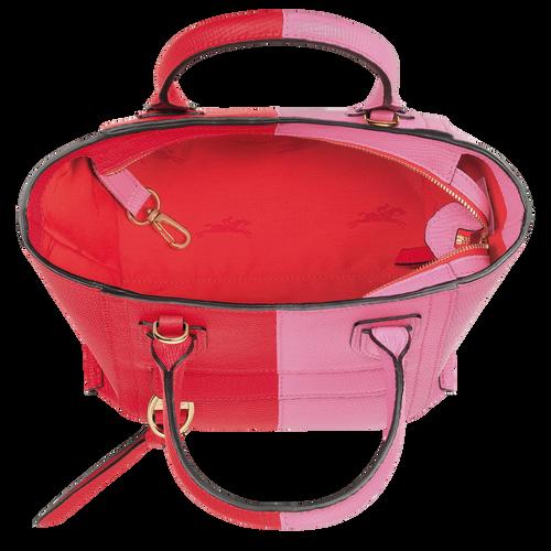 Mailbox Top handle bag S, Peony/Red Kiss