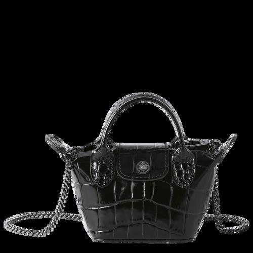Crossbody bag XS Le Pliage Cuir Black (10099HVC001) | Longchamp US