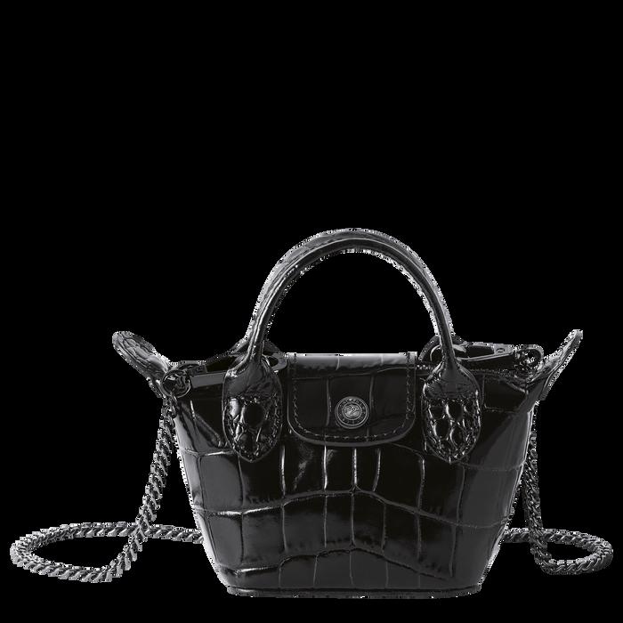 Le Pliage Cuir Crossbody bag XS, Black