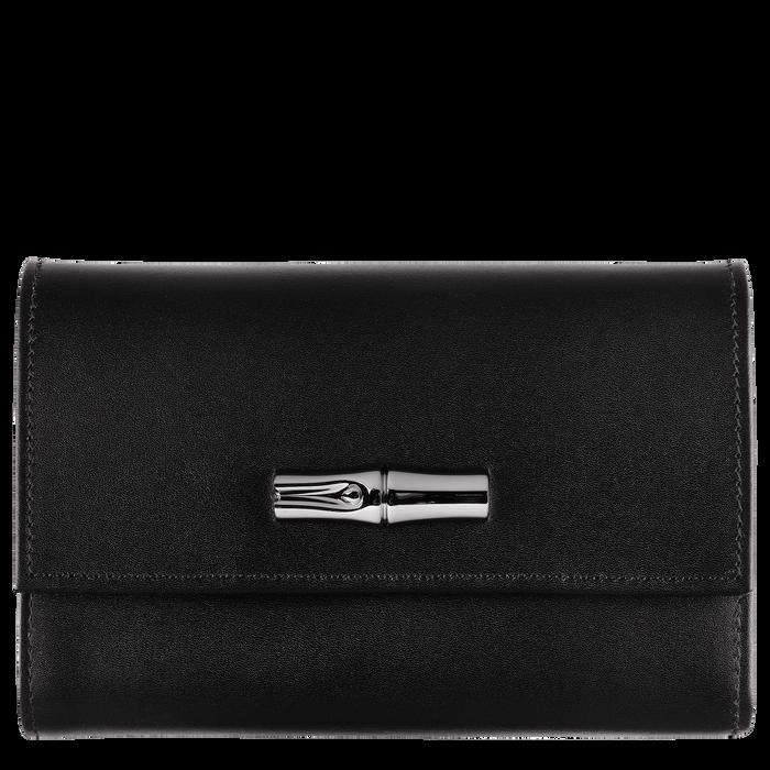 Brieftasche im Kompaktformat, Schwarz/Ebenholz - Ansicht 1 von 2 - Zoom vergrößern