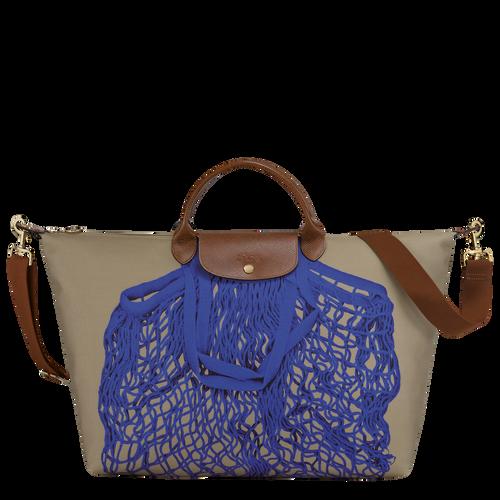 Travel bag L, Khaki/Blue - View 1 of  3 -