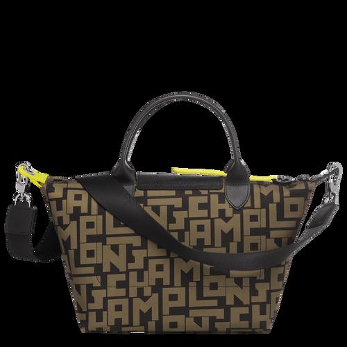 Top handle bag, Black/Khaki, hi-res - View 3 of 3