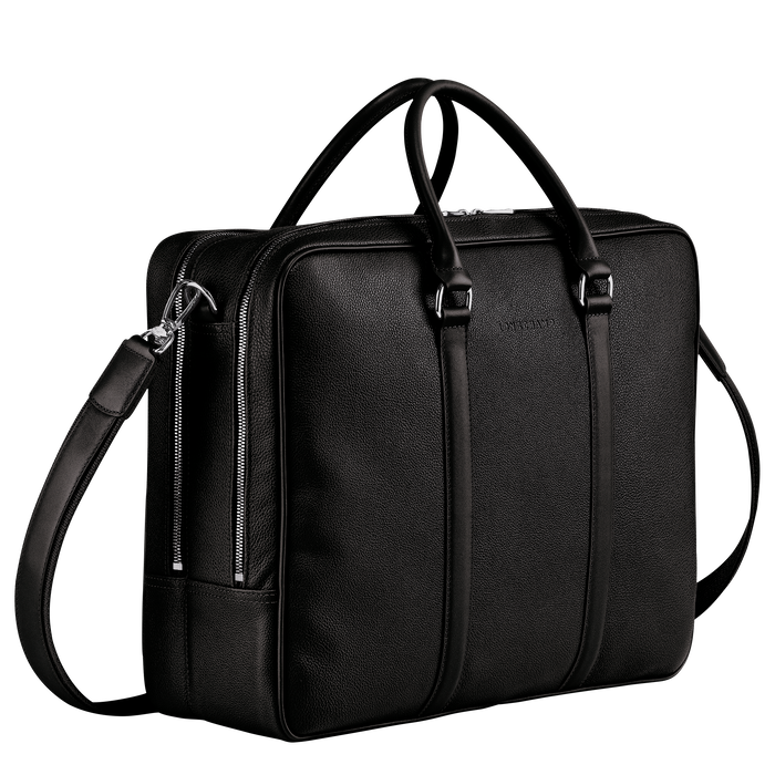 Briefcase L, Black - View 2 of  3 - zoom in