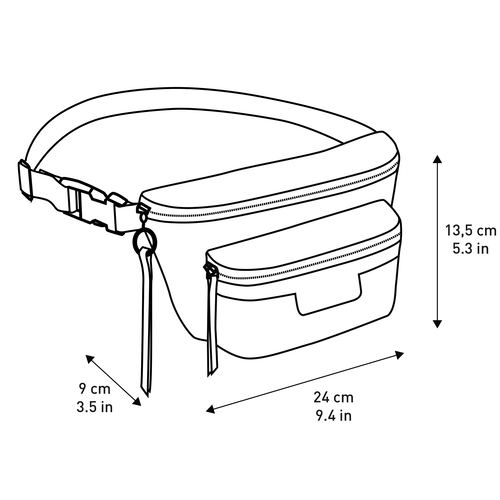 Belt bag M, Black/White - View 3 of  3 -