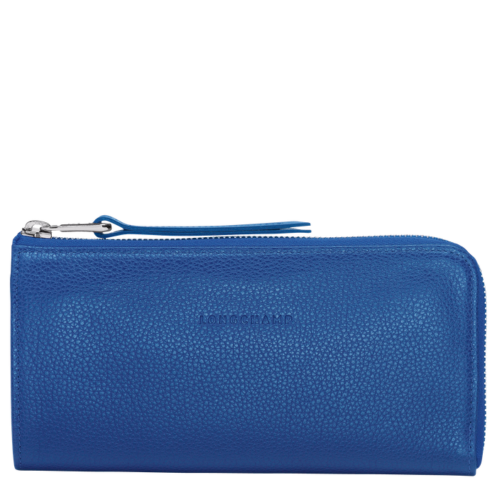 Long zip around wallet, Sapphire, hi-res - View 1 of 2