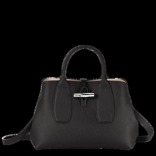 View 1 of Top handle bag M, Black, hi-res