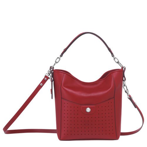 View 1 of Small bucket bag, Garnet Red, hi-res