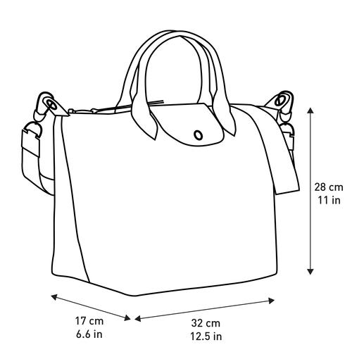 ル プリアージュ LGP トップハンドルバッグ M, ブラック/ホワイト