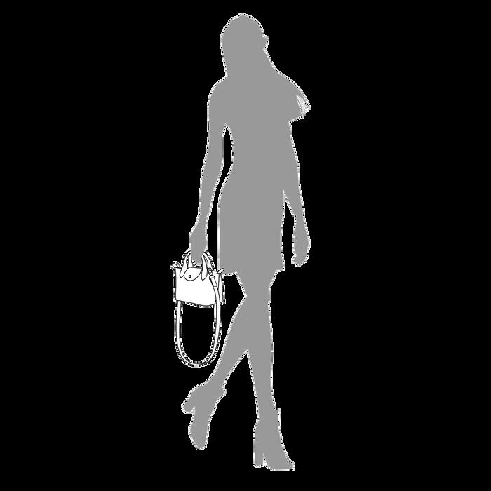 Le Pliage Cuir Top handle bag XS, Honey