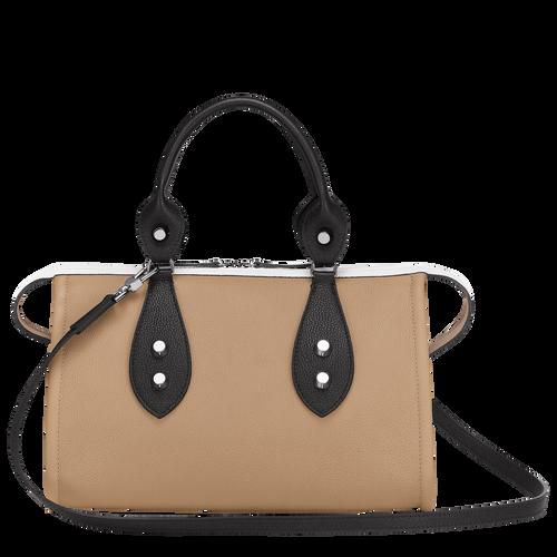 Top handle bag, Natural/Black/White, hi-res - View 3 of 3