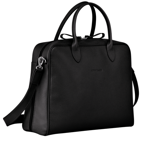 Briefcase M, Black - View 2 of  3 -