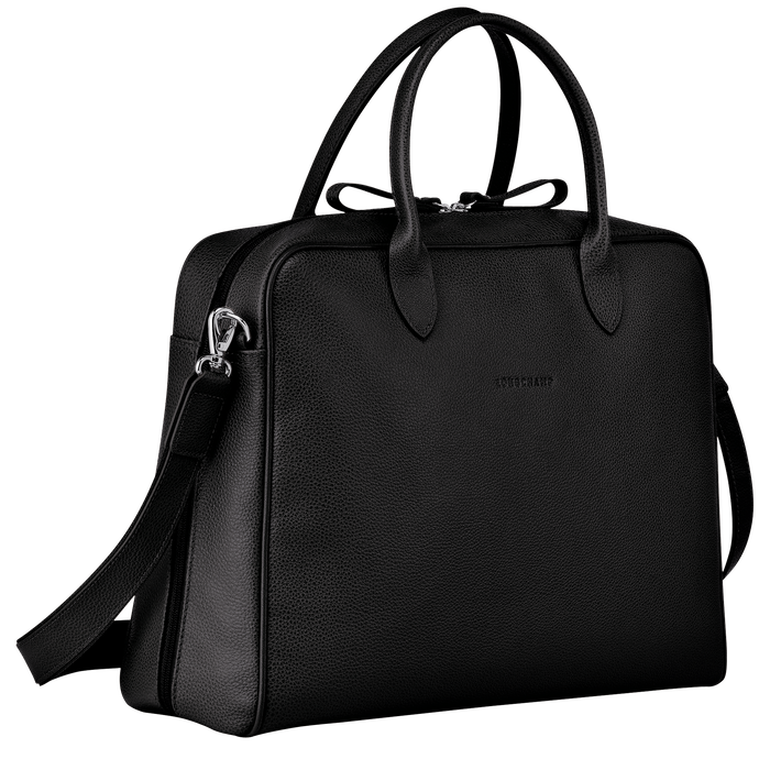 Briefcase M, Black - View 2 of  3 - zoom in