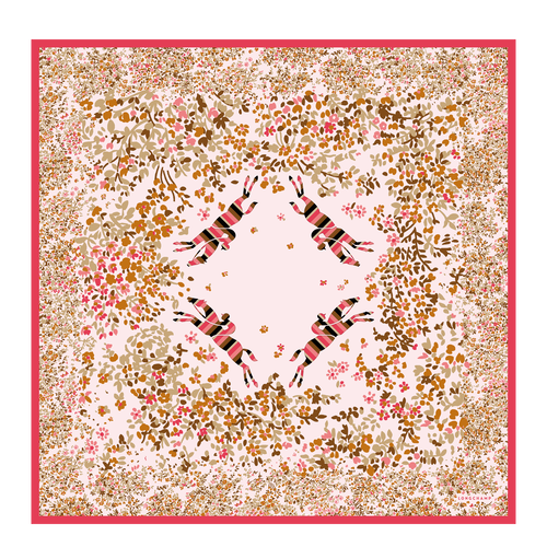 View 1 of Silk scarf, 018 Pink, hi-res