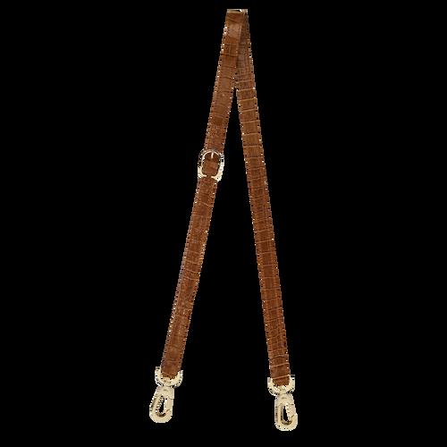 Longchamp 1980 Leather shoulder strap, Natural