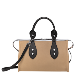 Top handle bag, Natural/Black/White, hi-res