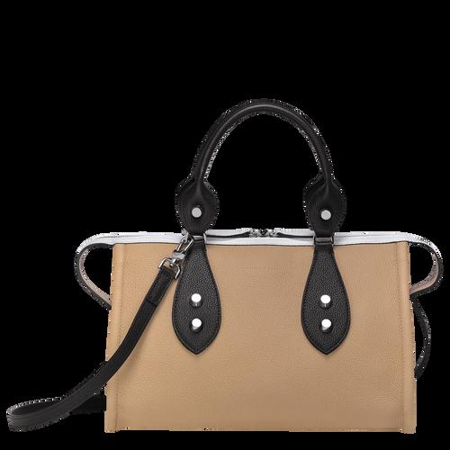 Top handle bag, Natural/Black/White, hi-res - View 1 of 3