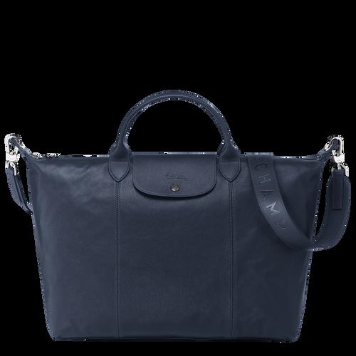 Top handle bag L, Navy - View 1 of  5 -