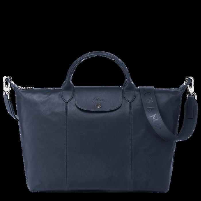 Top handle bag L, Navy - View 1 of  5 - zoom in