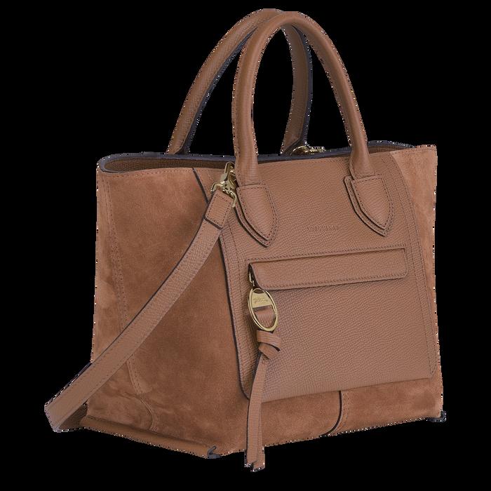 Mailbox Top handle bag M, Cognac