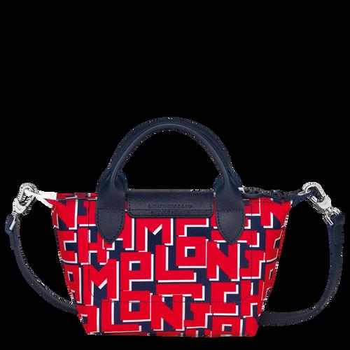 Le Pliage LGP Sac porté main XS, Marine/Rouge