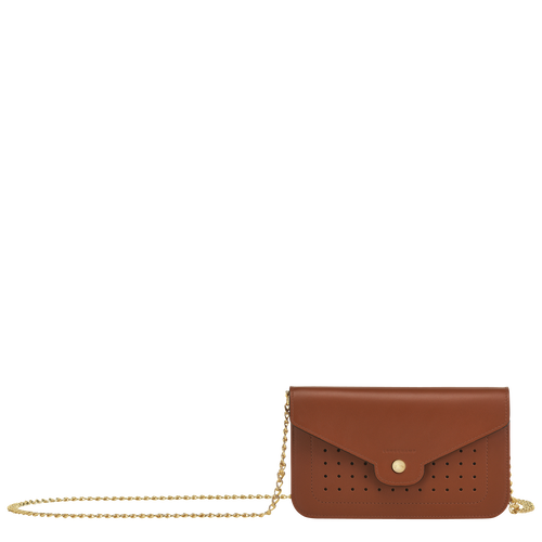 View 1 of Wallet on chain, Cognac, hi-res