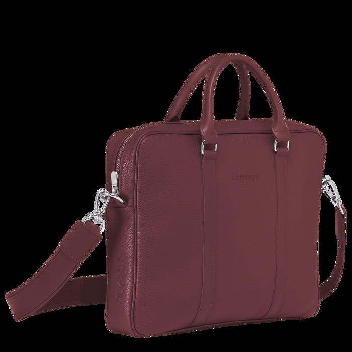 Le Foulonné Briefcase XS, Mahogany