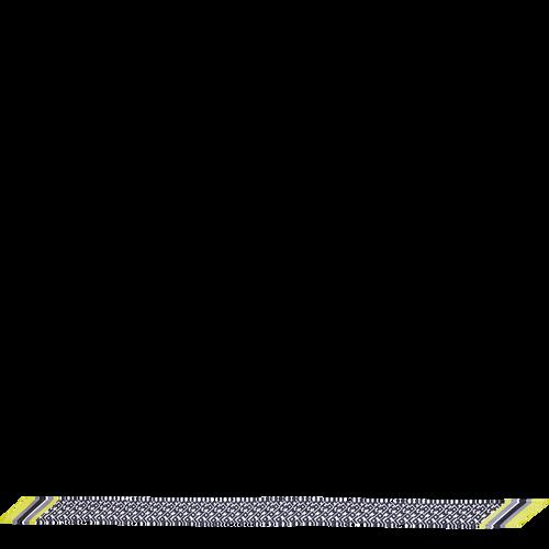 2021 가을겨울 컬렉션 실크 리본, 검정/흰색